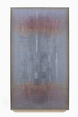 © Ivan Contreras Brunet. Sin título 1. Malla, acrílico, nylon, y madera. 1982, 160 x 90 x 9 cm, colección galería Gimpel&müller, Paris