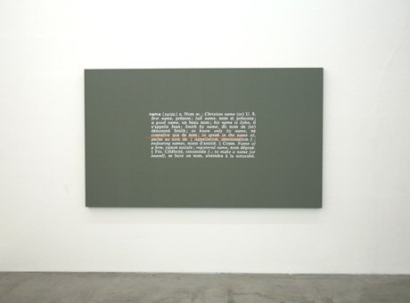Stefan Brüggemann Untitled (Joke and Definition Painting), 2011 © Cortesía del artista y de Parra & Romero